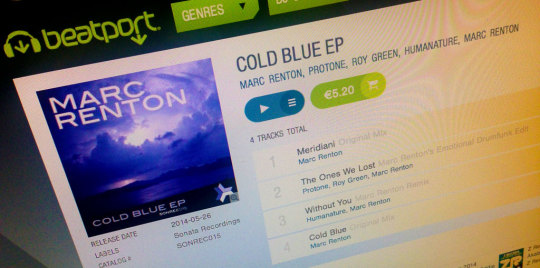 Cold Blue EP – out now on Sonata!