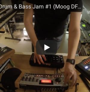 Video: DAWless Drum & Bass Jam #1 (Moog DFAM, Machinedrum, Arturia Minibrute) Hardware only